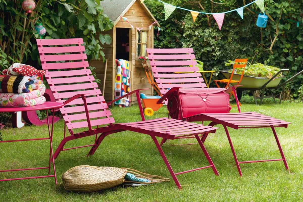 Photo gallery jardin for Coussin chaise longue jardin