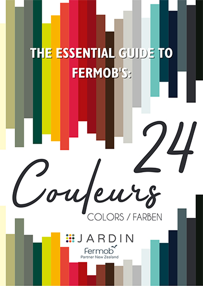 Our guide to Fermob's Outdoor Furniture Colours. All products available in New Zealand from Jardin.