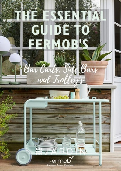 Our guide to Fermob's outdoor side table and bar carts . All products available in New Zealand from Jardin.