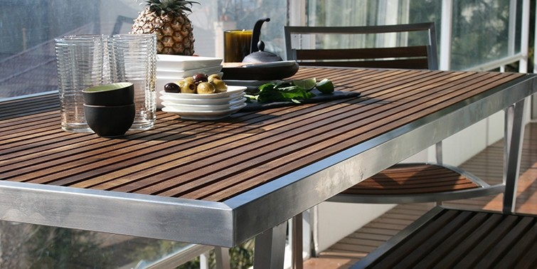 Collections Evolve Teak & Stainless Range