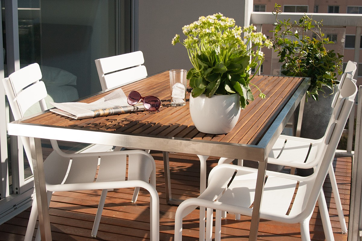 Outdoor dining table and chair combination jardin - Table jardin naterial villeurbanne ...