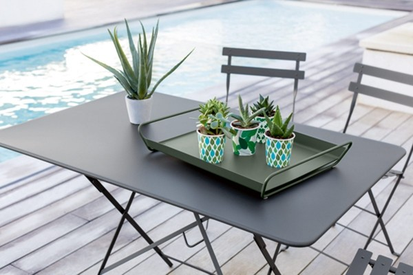 Metal Outdoor Folding Table With Chairs