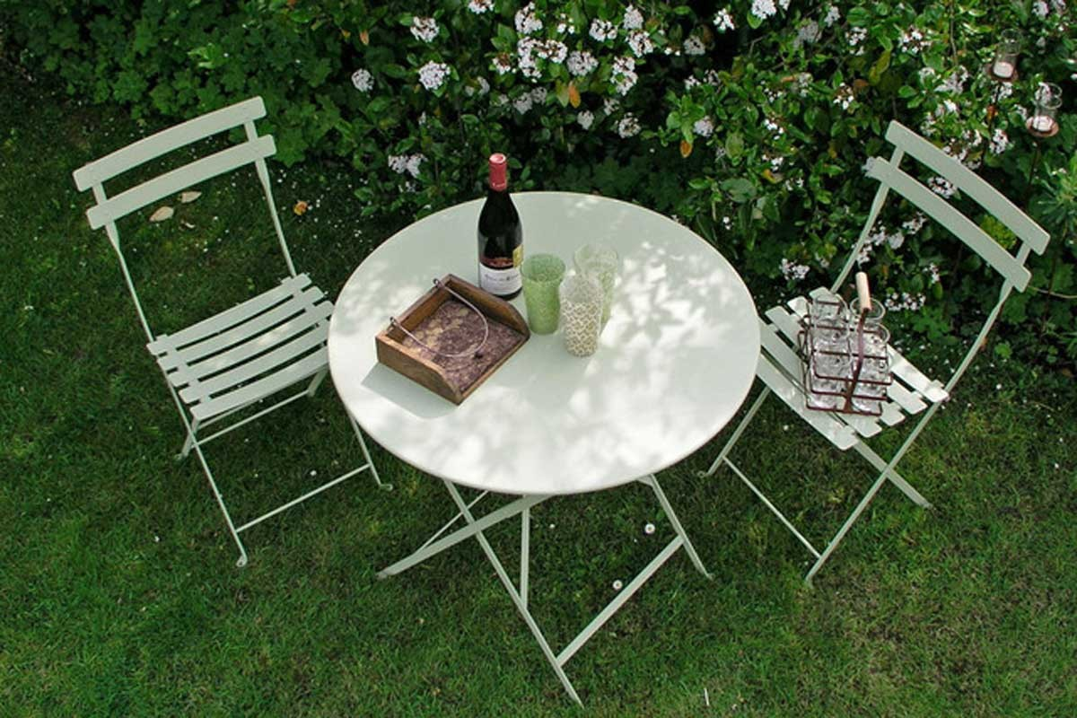 Bistro setting 60cm table and 2 chairs bistro outdoor - Table bistro jardin ...