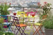 Colourful Rooftop Bistro Setting