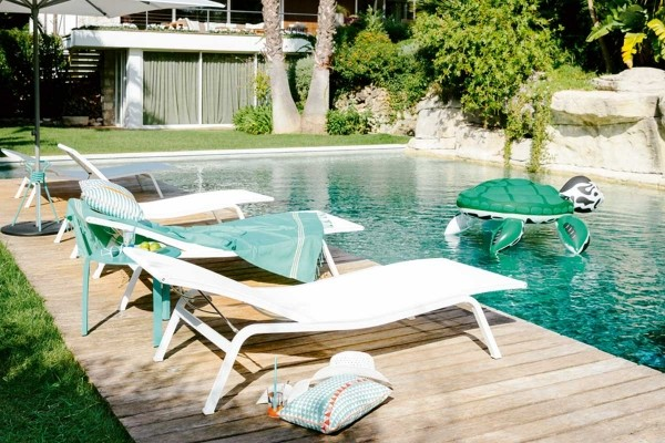 Sunloungers By The Pool