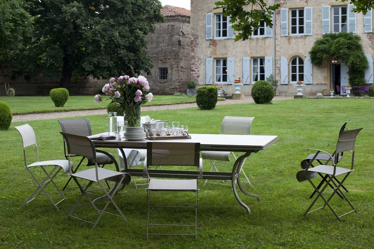 Bistro table 117cm with dune chairs bistro outdoor - Table bistro jardin ...