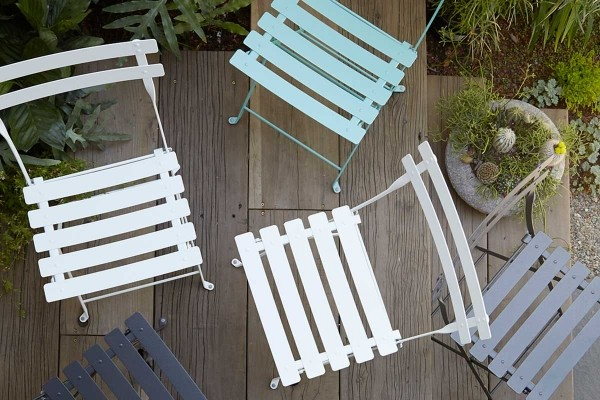 Bistro Folding Chairs -Cool Coastal colours