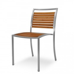 Evolve Dining Chair from the Evolve Teak & Stainless Range collection