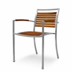 Evolve Dining Armchair from the Evolve Teak & Stainless Range collection