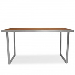Evolve Dining Table from the Evolve Teak & Stainless Range collection
