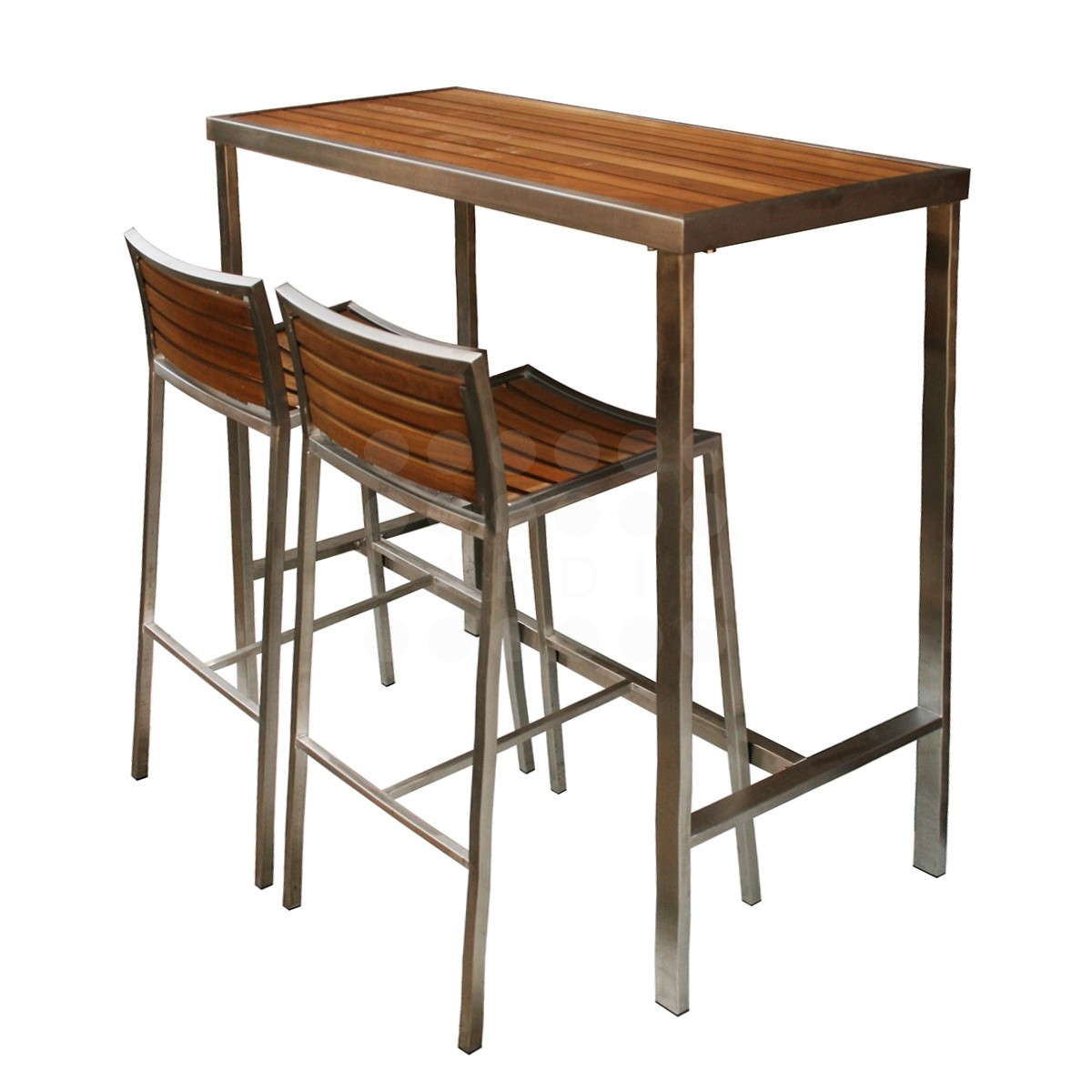 Evolve high bar table evolve teak stainless range jardin - Table bar murale ...