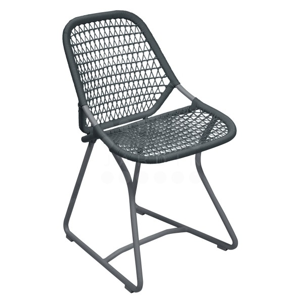 Fermob Sixties Dining Chair in Storm Grey