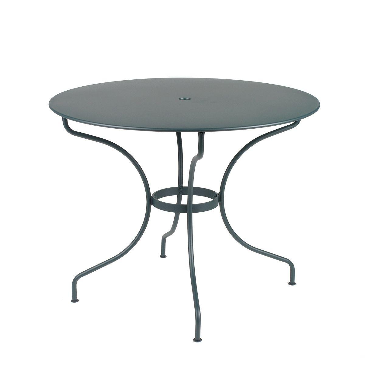 Opera round table 96cm opera range collections jardin - Table jardin metal ronde brest ...