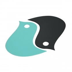 Birds Trivet (Set of 2) in colour Lagoon Blue from Les Basics Collection