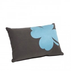 Trefle Outdoor Cushion 44 X 30cm in colour Anthracite from Trèfle Collection