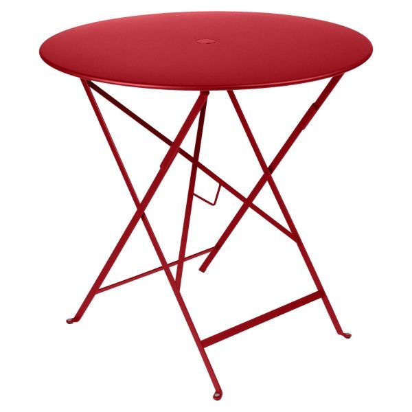 Fermob Bistro Table Round 77cm in Poppy