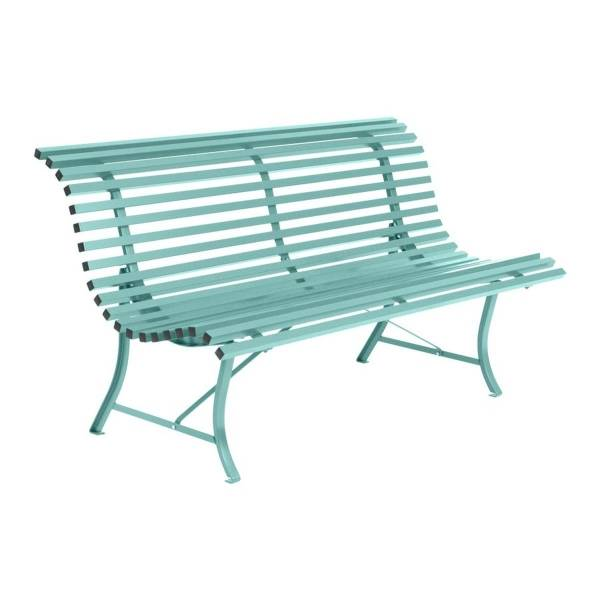 Fermob Louisiane Bench 150cm in Lagoon Blue