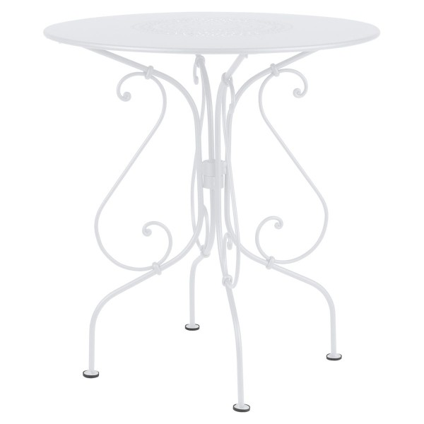 Fermob 1900 Table Round 67cm in Cotton White