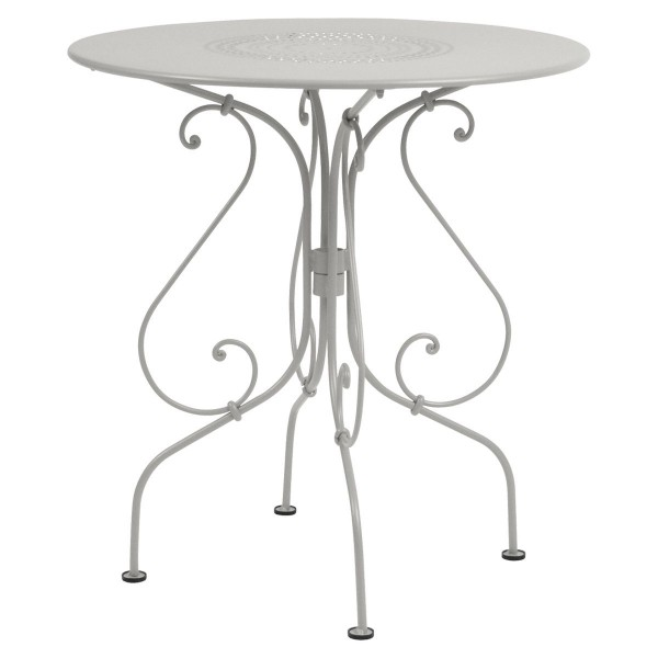 Fermob 1900 Table Round 67cm in Steel Grey