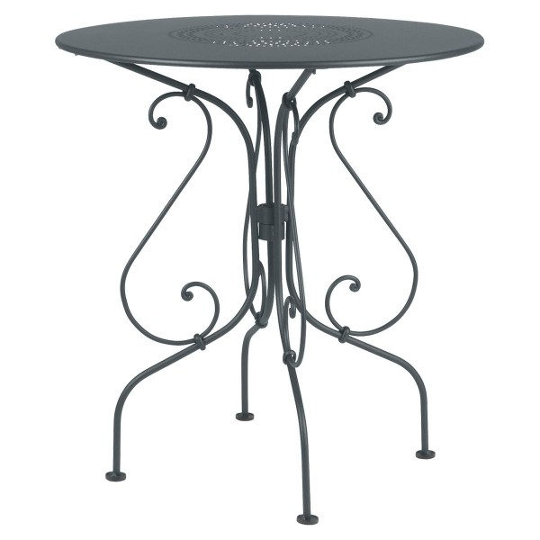 Fermob 1900 Table Round 67cm in Storm Grey