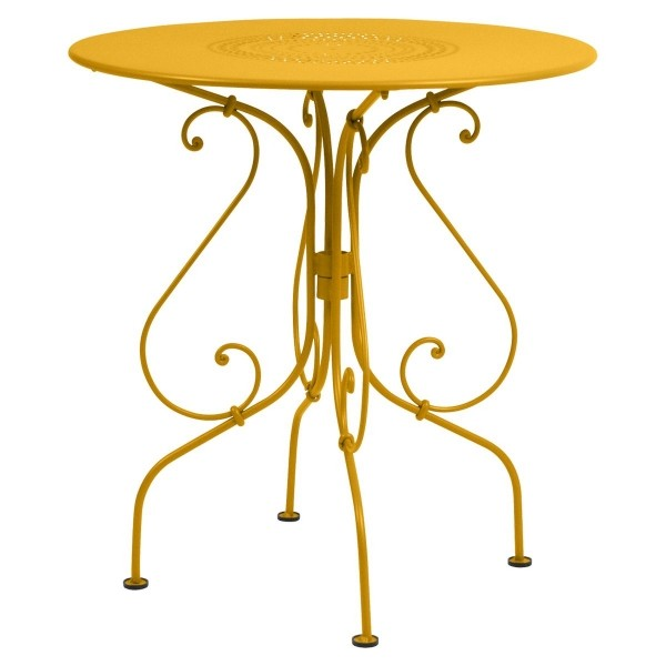 Fermob 1900 Table Round 67cm in Honey