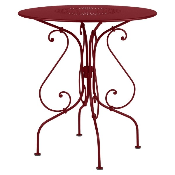Fermob 1900 Table Round 67cm in Chilli