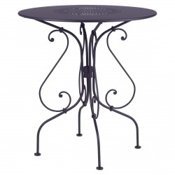 1900 Outdoor Table Round 67cm in colour Plum from 1900 Garden Furniture