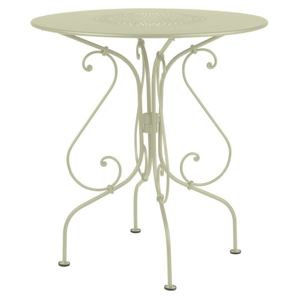 Fermob 1900 Table Round 67cm in Willow Green