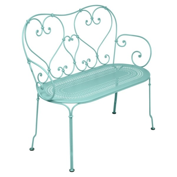 Fermob 1900 Bench in Lagoon Blue