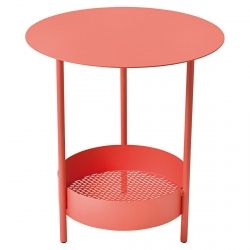 Salsa Garden Pedestal Table in colour Capucine from Salsa Collection