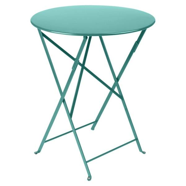 Fermob Bistro Table Round 60cm in Lagoon Blue