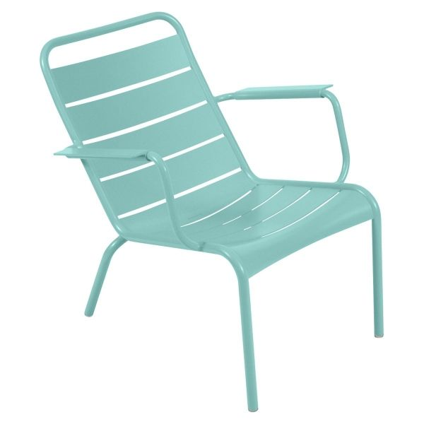 Fermob Luxembourg Low Armchair in Lagoon Blue