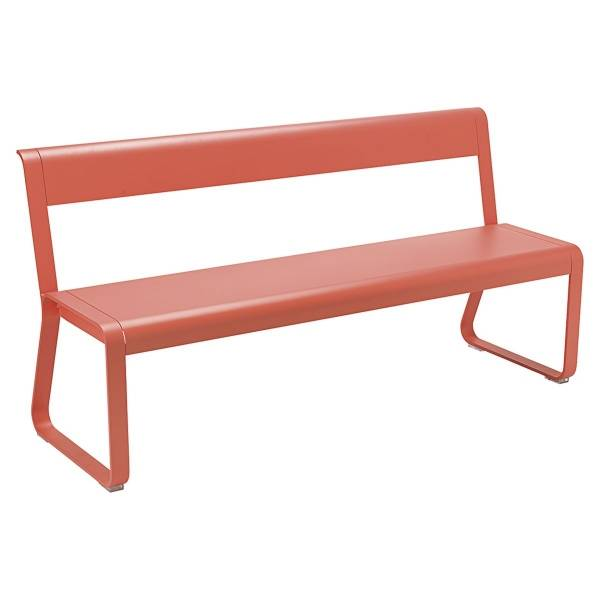 Fermob Bellevie Bench with Back in Capucine