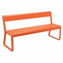 Bellevie Contemporary Outdoor Bench with Back in colour Carrot from Bellevie Contemporary Outdoor Furniture