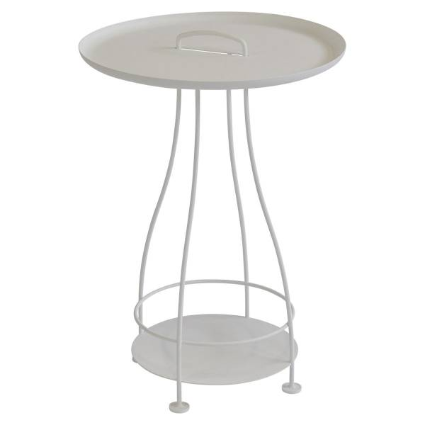 Fermob Happy Hours Pedestal Table in Cotton White