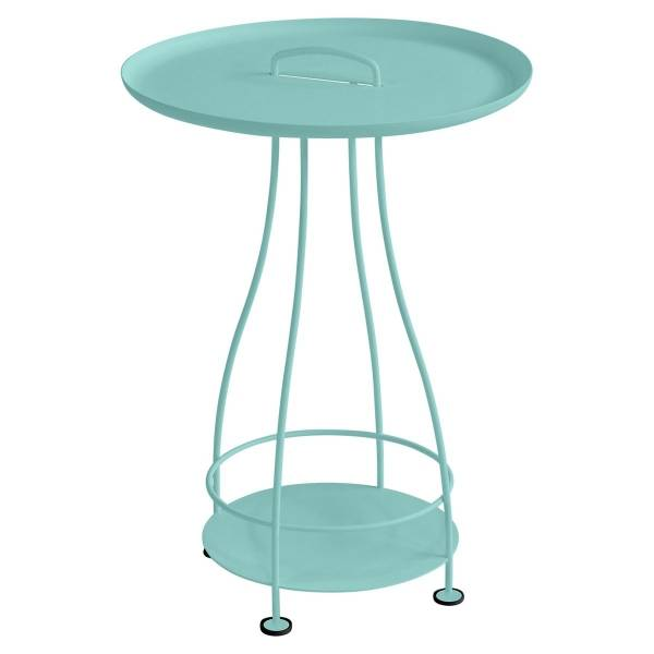 Fermob Happy Hours Pedestal Table in Lagoon Blue