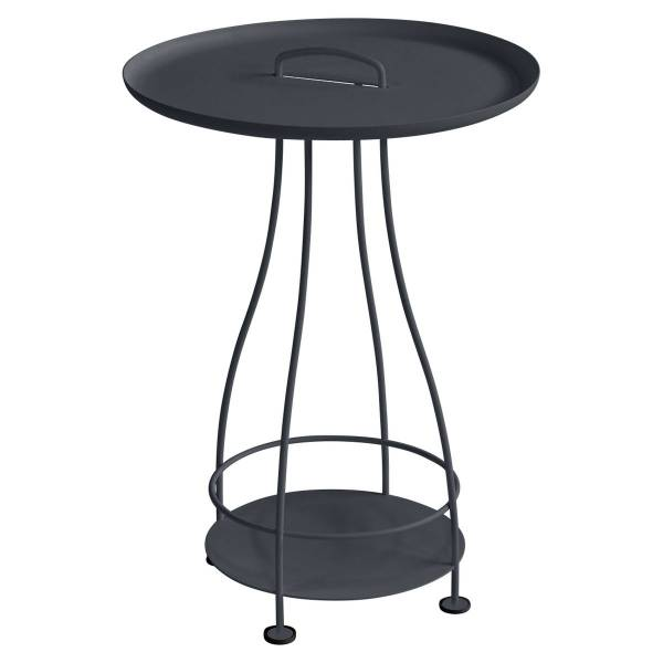 Fermob Happy Hours Pedestal Table in Anthracite