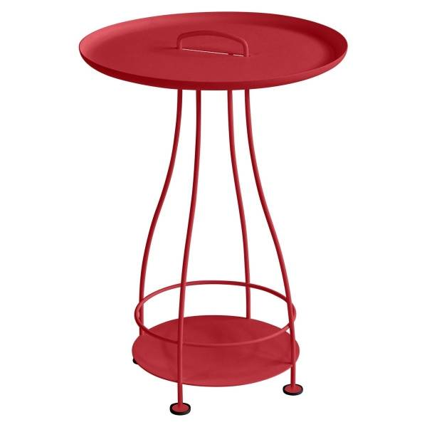 Fermob Happy Hours Pedestal Table in Poppy