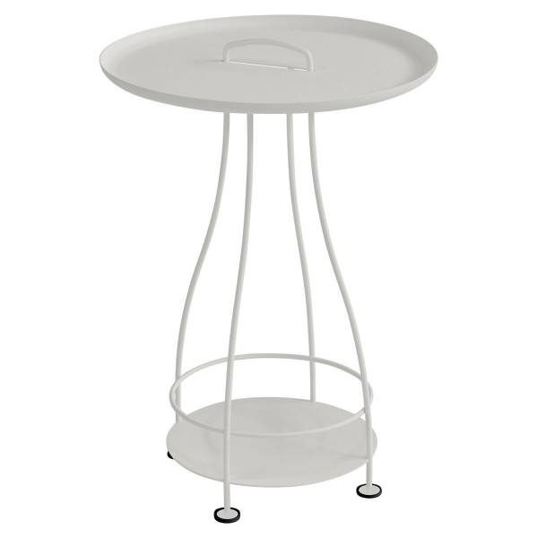 Fermob Happy Hours Pedestal Table in Steel Grey