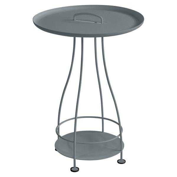 Fermob Happy Hours Pedestal Table in Storm Grey