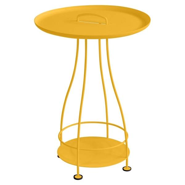 Fermob Happy Hours Pedestal Table in Honey