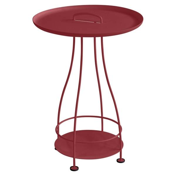 Fermob Happy Hours Pedestal Table in Chilli