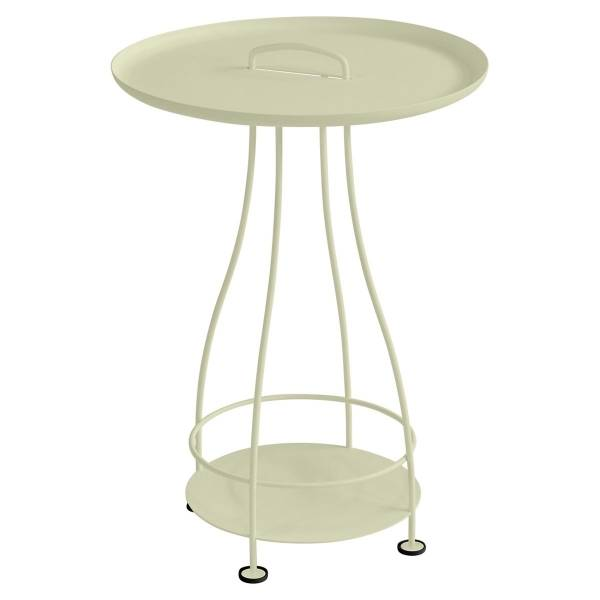 Fermob Happy Hours Pedestal Table in Willow Green