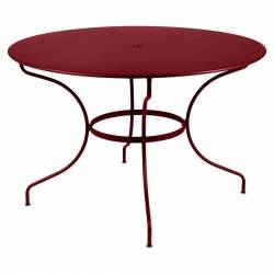 Opera Round Outdoor Table 117cm in colour Chilli from Opera Collection