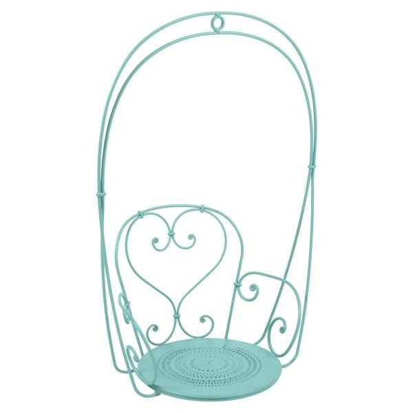 Fermob 1900 Hanging Garden Chair in Lagoon Blue