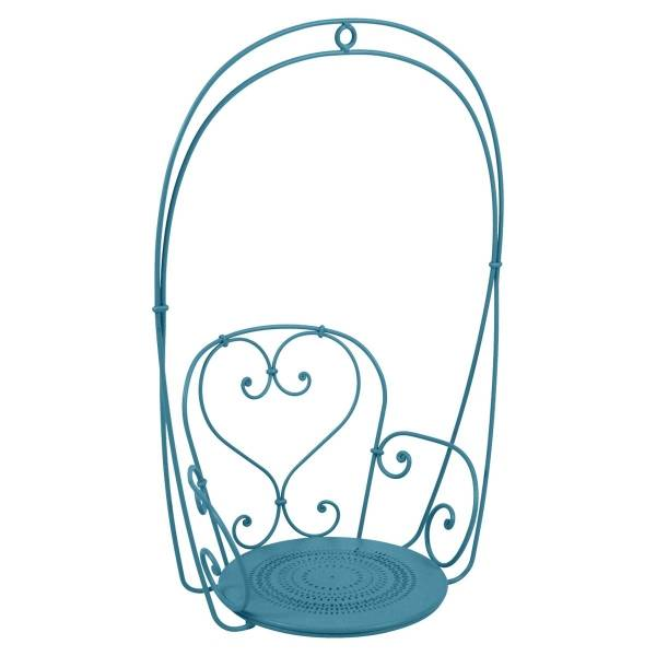 Fermob 1900 Hanging Garden Chair in Turquoise