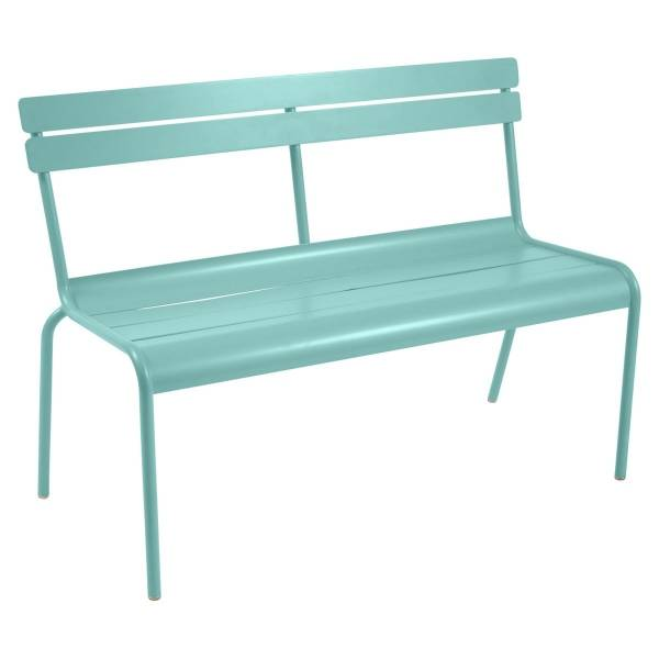 Fermob Luxembourg Bench with Back in Lagoon Blue