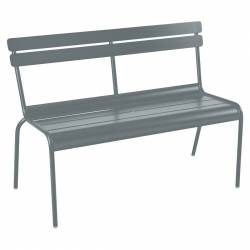 Luxembourg Outdoor Bench with Back in colour Storm Grey from Luxembourg Modern Outdoor Furniture