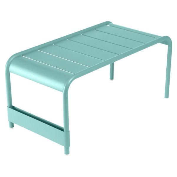 Fermob Luxembourg Large Low Table And Garden Bench in Lagoon Blue