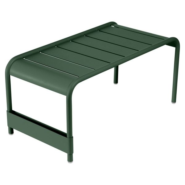 Fermob Luxembourg Large Low Table And Garden Bench in Cedar Green